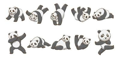 Cartoon Panda Set