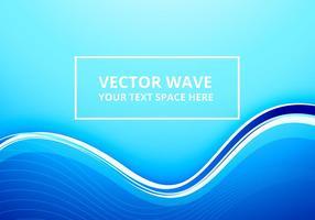 Abstrakt ljusblå linjevåg vektor