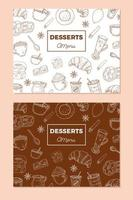 Vintage Dessert Menüvorlage vektor