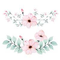 Strauß von Vintage Blütenblättern von Mohnblumen vektor