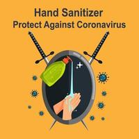 Händedesinfektionsmittel schützen gegen Covid-19 vektor