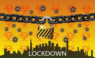 lås ner - stäng av staden