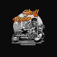 Schädel Racer Vintage Hintergrund
