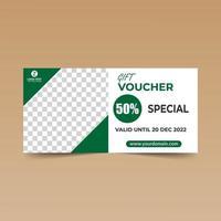 grön och vit enkel presentkort