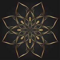 goldene Mandalablume vektor