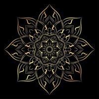 Mandala mit Vintage Blumenstil vektor