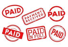 Bezahlte Briefmarken