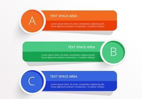 Helle Infografische Banner Vektor Set