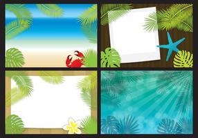 Beach Template Vektoren