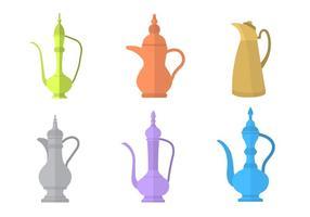 Arabiska kaffekanna vektorer