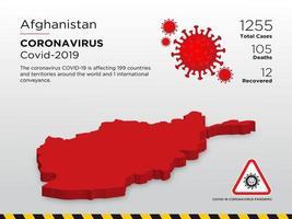 afghanistan påverkade landskartan över coronavirus spridning