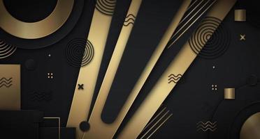 svart och guld lagrad memphis bakgrund
