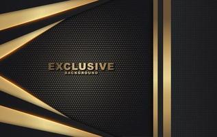 gold und schwarz geschichteter Hintergrund mit V-Form an der Seite