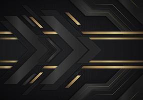goldene metallische Pfeilformen gehen nach rechts