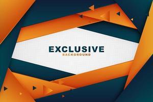 dynamisches geschichtetes Winkel-Marine- und orange Design