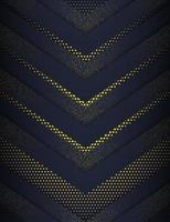 Pfeilformen in Gold und Marine mit Halbton