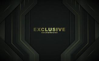 svart geometrisk bakgrund med guldtext