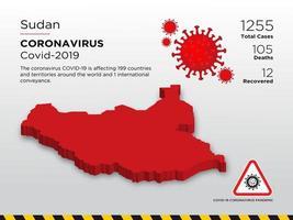 Sudan betroffene Landkarte des Coronavirus