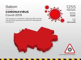 Gabun betroffene Landkarte des Coronavirus verbreitet