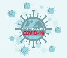 stoppa coronavirus covid-19 text på jorden