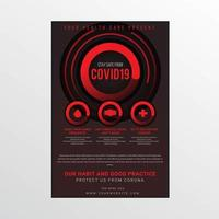 schwarz und rot covid-19 Sicherheitsstufenplakat