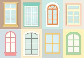 Dekorative Windows-Vektoren vektor