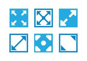 Vollbild-Icon-Vektoren