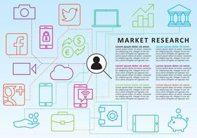 Marktforschungslinie Icon Vektoren