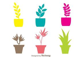 Färgglada plantersvektorer vektor