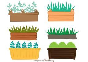 Fönsterplantervektorer vektor