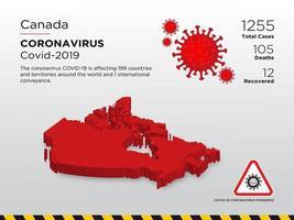 Kanada berörda landskarta över coronavirus spridning vektor