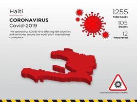 Haiti betroffene Landkarte der Verbreitung von Coronaviren