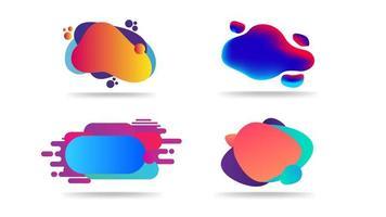 Sammlung von abstrakten geometrischen Vorlagen mit flüssigen Formen