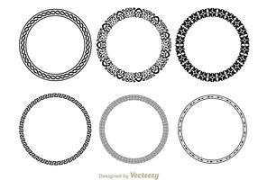Cirkel snygg linje dekoration vektor