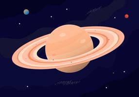Fri Saturn Planet Vector