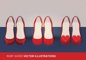 Vektor Ruby Schuhe