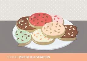 Plate of Cookies Vektor-Illustration