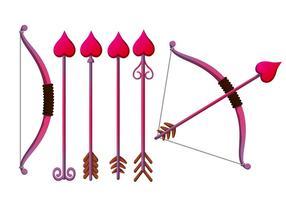 Cupid's Bogen Vektor Set