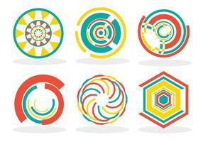 Beskär cirklar vektor