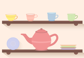 Free Tea Set Vektor