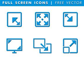 Vollbild-Icons Free Vector