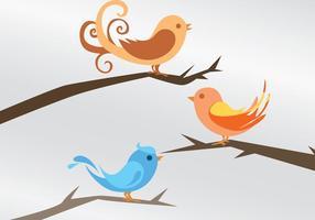 Tre fågelvektorer vektor