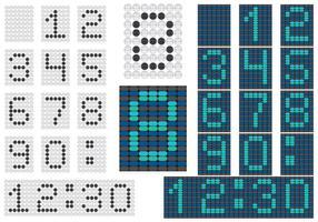 Numerala Countervektorer vektor