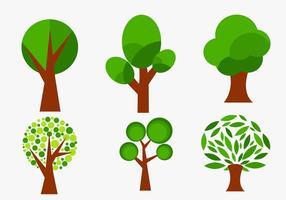 Set von abstrakten Vektor Bäume