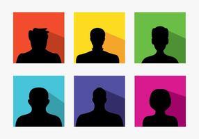 Set med färgglada standard avatarer