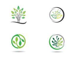 ekologi cirkulär logotypuppsättning vektor