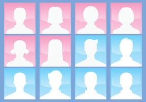 Monokromatiska avatarer vektor