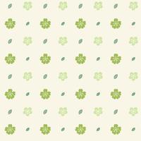 Muster mit grünen Blumen auf cremefarbenem Hintergrund