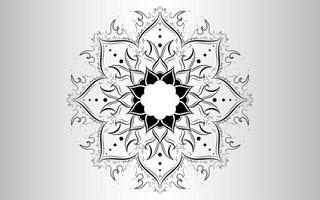 Wellenmuster Blütenblatt Blume Mandala vektor