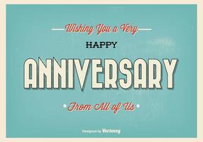 Retro typografisk lycklig årsdag illustration